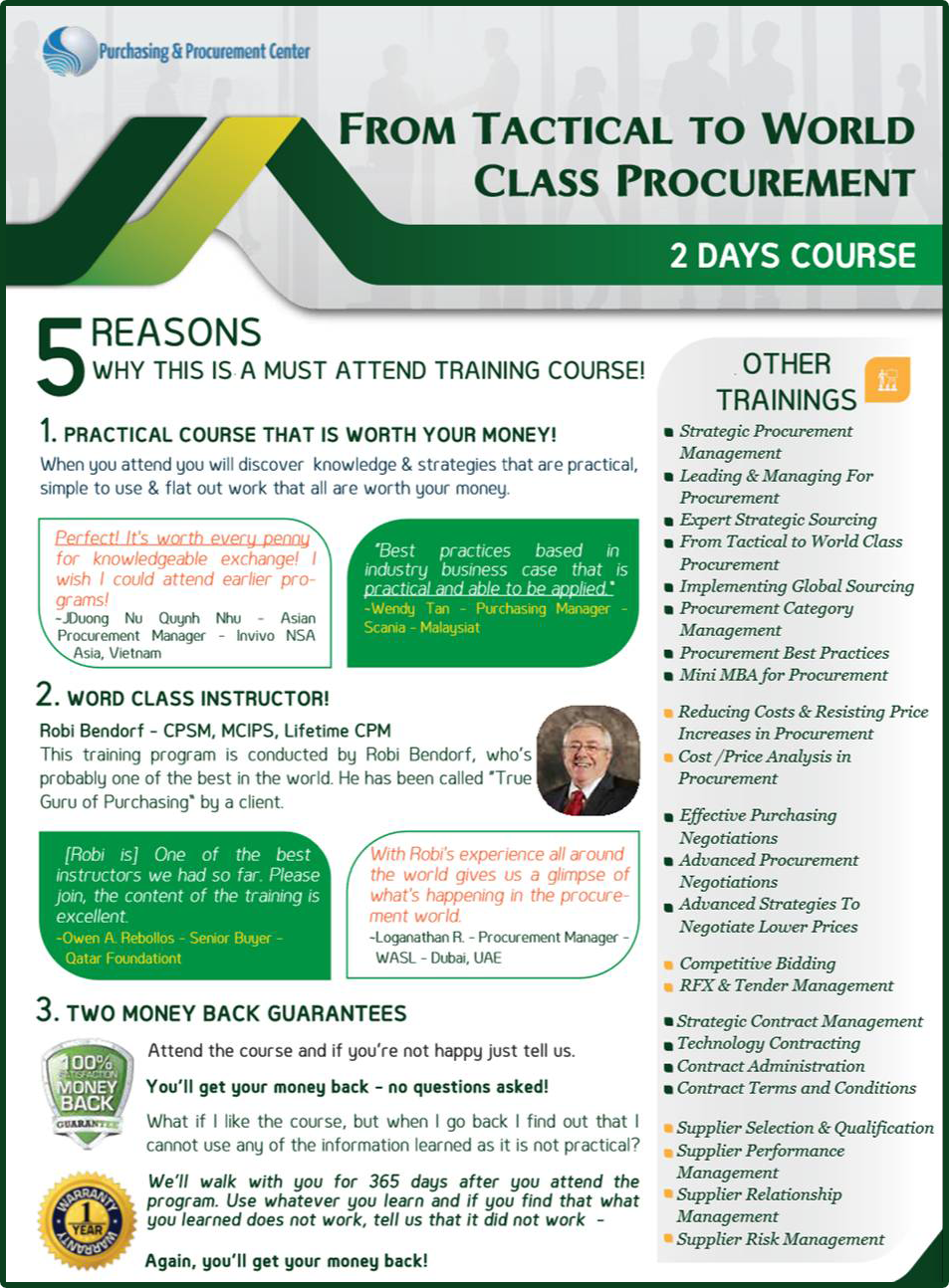 From Tactical to World Class Procurement