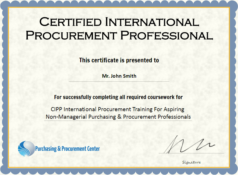 Procurement Certifications