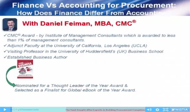 Daniel Feiman Finance vs Accounting For Procurement Video