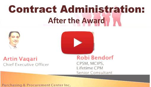 Contract Administration: After the Award